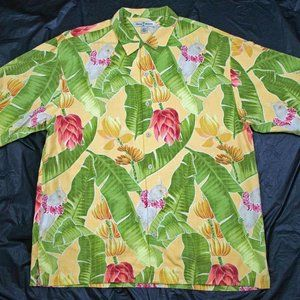 Tommy Bahama Mens Short Sleeve Button Front Silk S